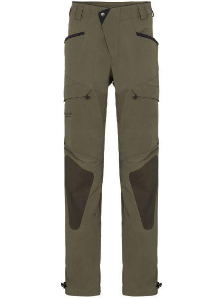 Зеленые прямые брючные прямые брюки Klättermusen