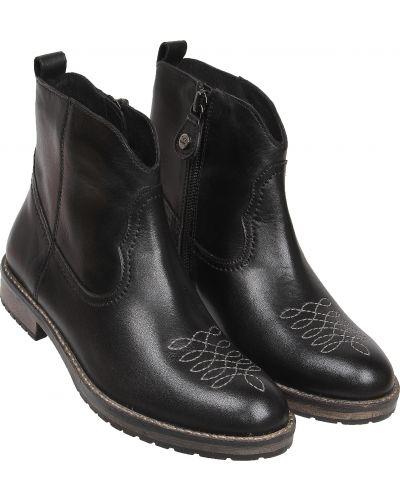 Текстильные черные ботинки Gioseppo