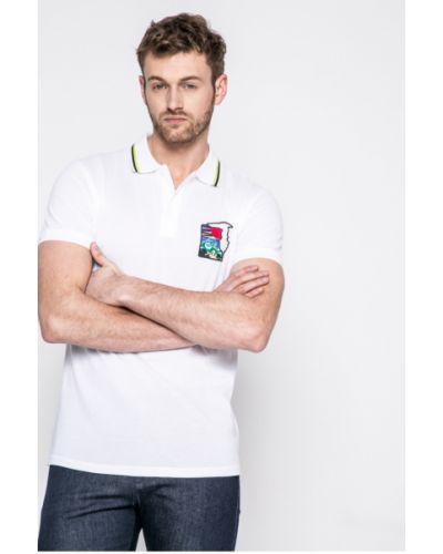 Белая футболка однотонная Trussardi Jeans