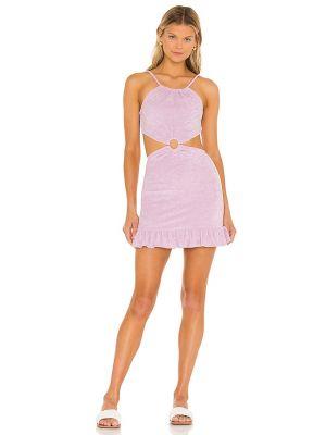 Текстильное фиолетовое платье мини Majorelle