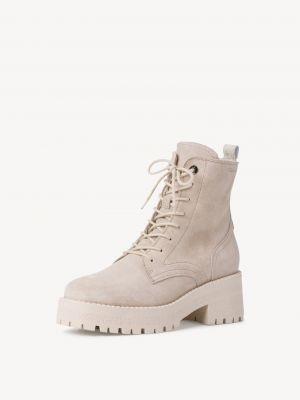 Кожаные ботинки - бежевые Tamaris