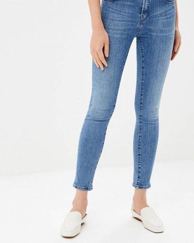 Голубые джинсы-скинни Rifle