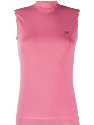 Прямой розовый топ без рукавов из вискозы Blumarine