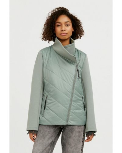 Свободная зеленая утепленная куртка Finn Flare