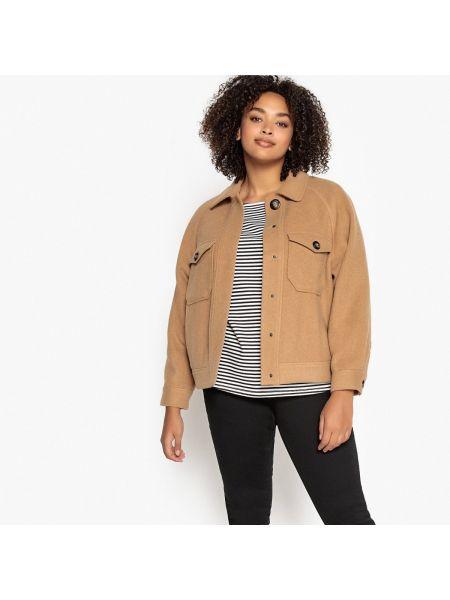 Укороченное пальто на кнопках шерстяное Castaluna