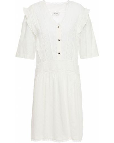 Кружевное платье мини Coach