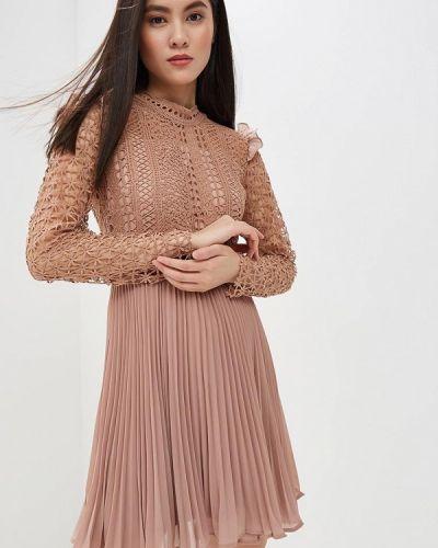Вечернее платье весеннее бежевое Danity