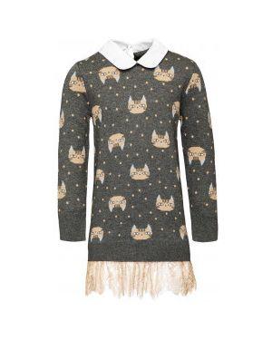 Платье серое вязаное Gulliver Wear