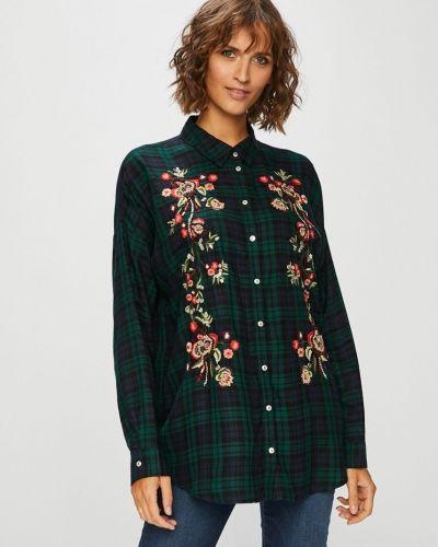 Блузка с длинным рукавом с вышивкой в клетку Only