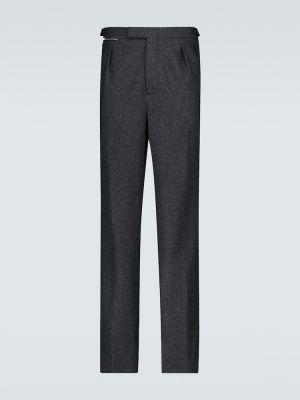 Szare spodnie wełniane Raf Simons