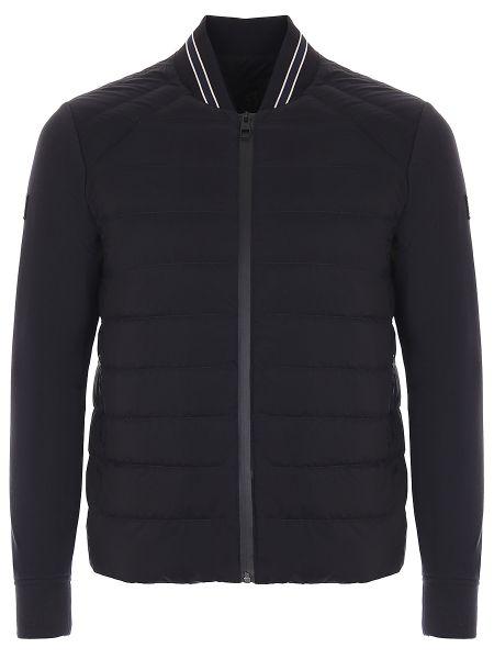 Черная стеганая куртка на молнии с манжетами с карманами Montecore