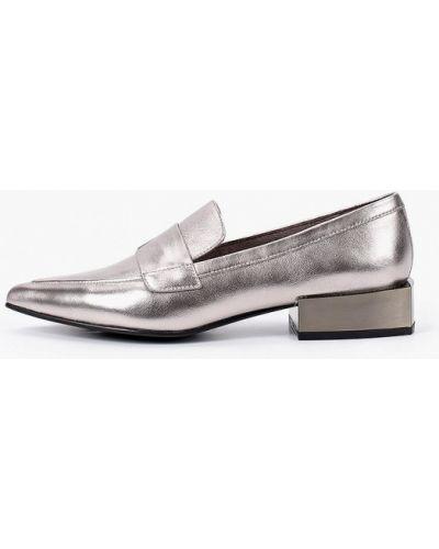 Туфли на каблуке кожаные серебряный Paolo Conte
