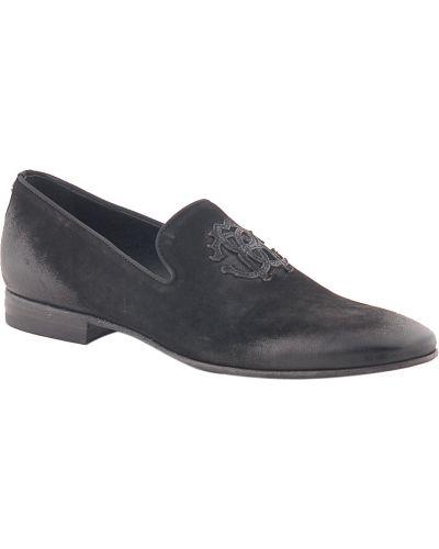 Черные туфли замшевые Roberto Cavalli
