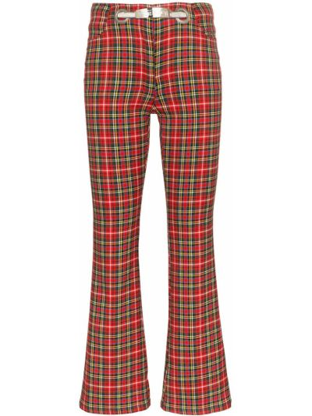 Хлопковые красные брюки с высокой посадкой Miaou
