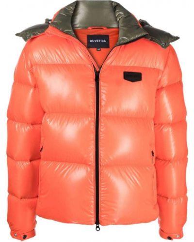 Оранжевая куртка с капюшоном Duvetica
