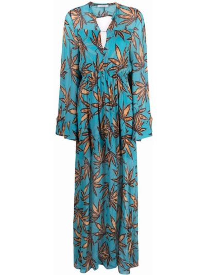 Платье макси длинное - синее Dorothee Schumacher