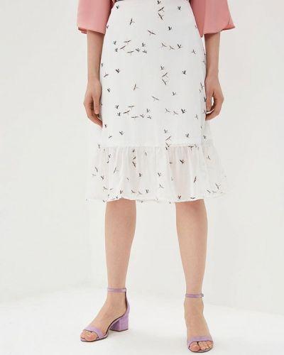Белая юбка весенняя Modis
