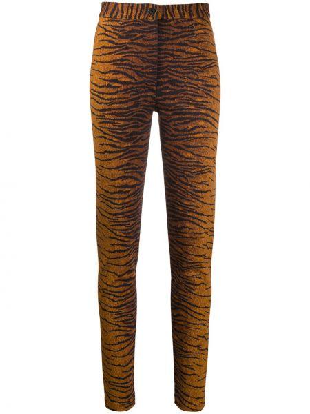 Brązowe legginsy z wiskozy z printem Kenzo