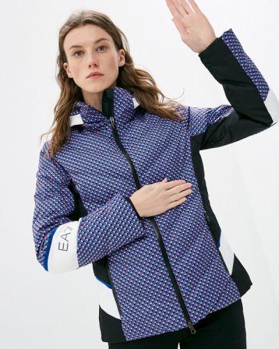 Синяя куртка горнолыжная Ea7