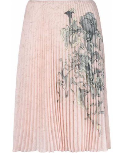Юбка плиссированная с завышенной талией Prada