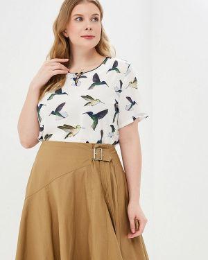 Блузка с коротким рукавом белая Milanika