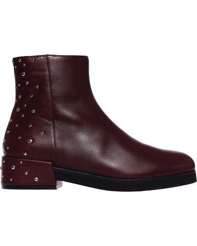 Кожаные ботинки - бордовые Bruno Premi