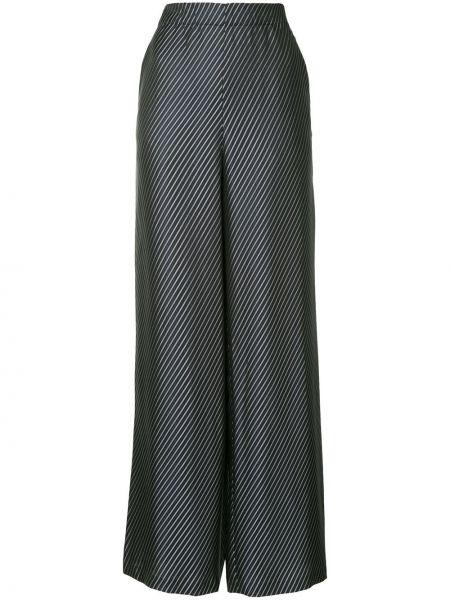 Брючные темно-синие брюки с нашивками из вискозы Zero + Maria Cornejo