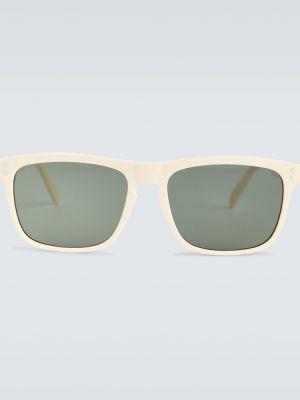 Кожаные солнцезащитные очки золотые Céline Eyewear