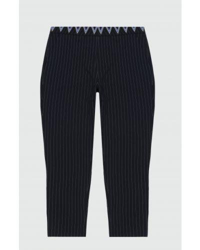 Черные брюки с вышивкой Desigual