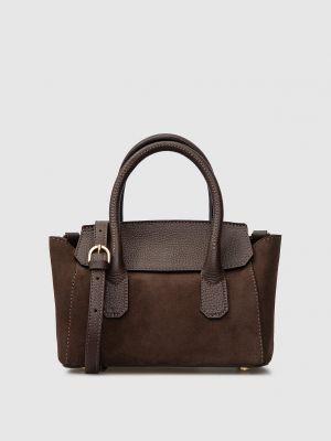 Замшевая сумка - коричневая Gianni Notaro