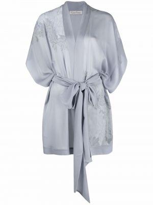 Шелковый халат - серый Carine Gilson