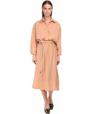 Платье миди макси на пуговицах Fendi