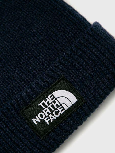 Шапка бини с манжетами - синяя The North Face