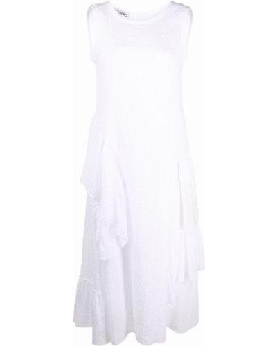 Белое платье миди без рукавов с вырезом Iceberg