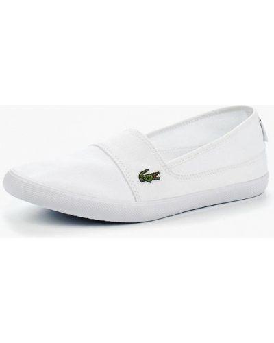 Белые слипоны низкие Lacoste