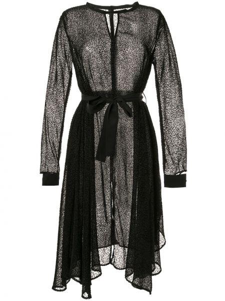 Платье миди в горошек - черное Taylor