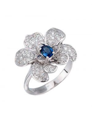 Серебряное кольцо с бриллиантом Carrera Y Carrera