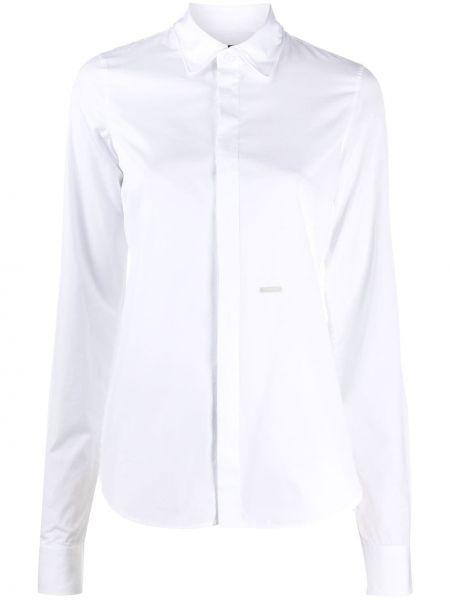 С рукавами белая классическая рубашка с воротником Dsquared2