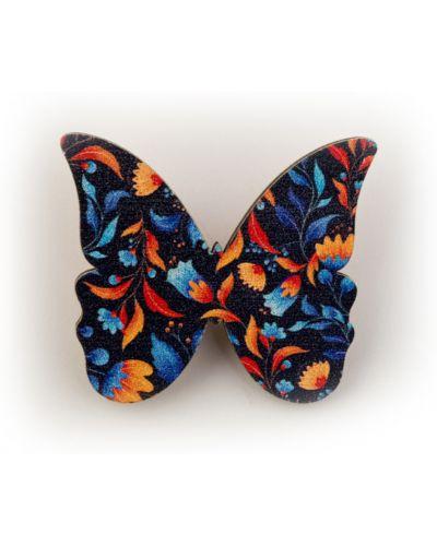 Прямой брелок с бабочкой в цветочный принт Orlando