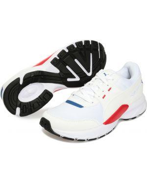 Кожаные спортивные черные кроссовки беговые для бега Puma