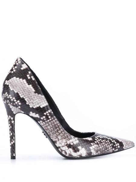 Кожаные белые туфли-лодочки на каблуке Michael Michael Kors