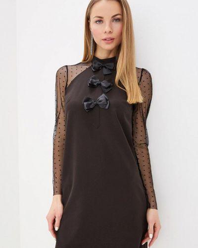 Вечернее платье весеннее черный Love Republic