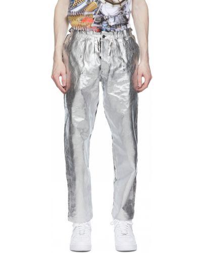 Czarne spodnie srebrne Comme Des Garcons Homme Plus