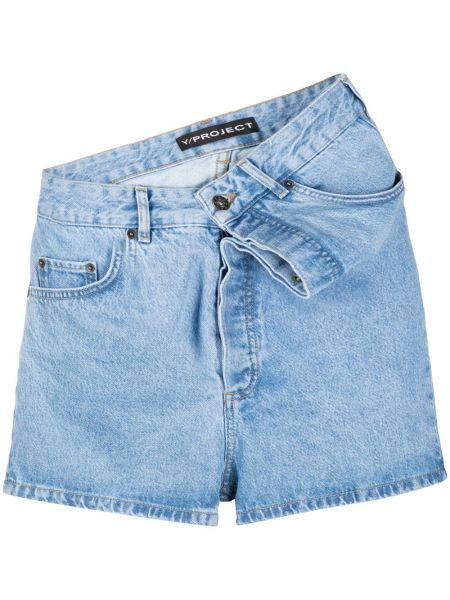 Синие хлопковые джинсовые шорты с карманами Y/project