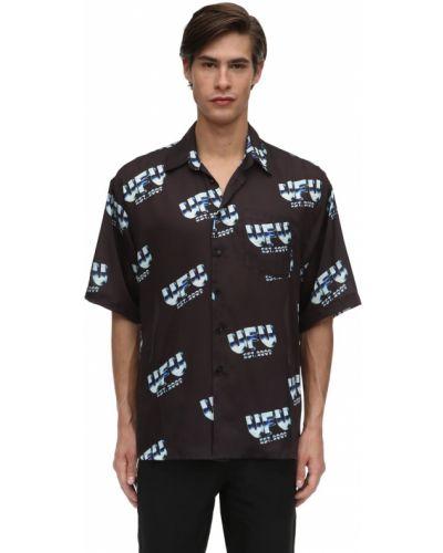 Klasyczna czarna klasyczna koszula krótki rękaw Ufu - Used Future