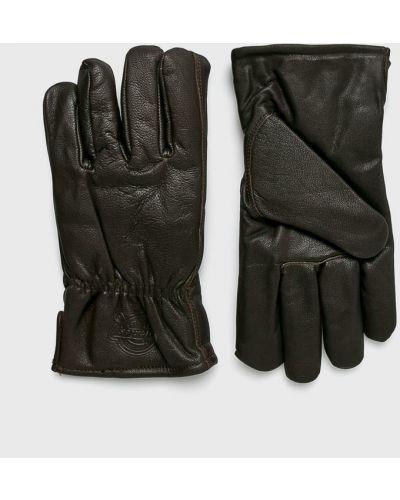 Коричневые кожаные перчатки Dickies