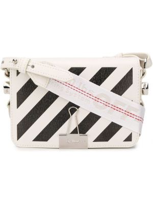 Кожаная сумка - белая Off-white