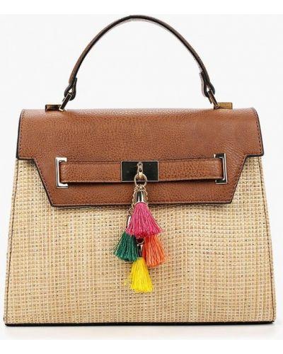 Бежевая кожаный сумка Aldo