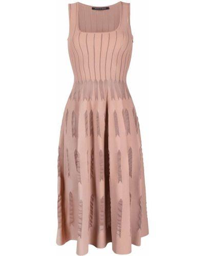Różowa sukienka z jedwabiu bez rękawów Antonino Valenti