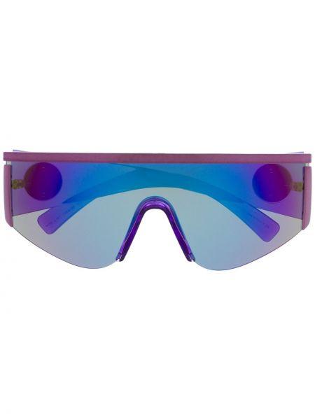 Прямые фиолетовые солнцезащитные очки металлические Versace Eyewear